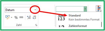 Excel Differenz mit der HEUTE-Funktion als Zahl formatieren
