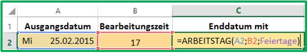 Excel Name in Formel angeben statt Zellbereich